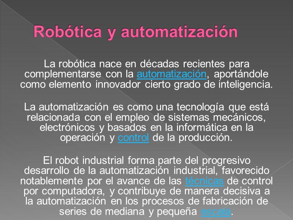 Robótica y automatización