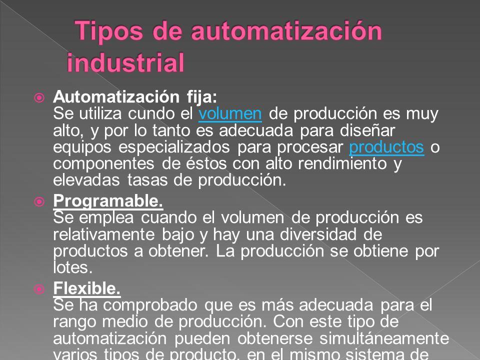 Tipos de automatización industrial