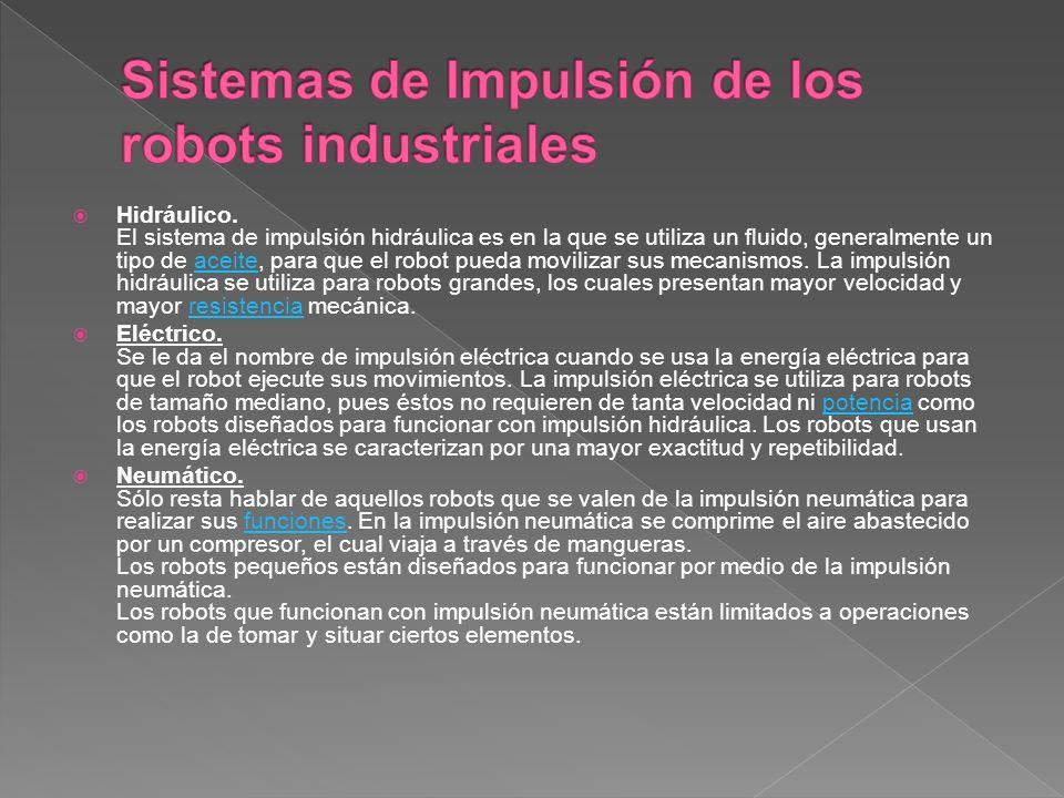 Sistemas de Impulsión de los robots industriales