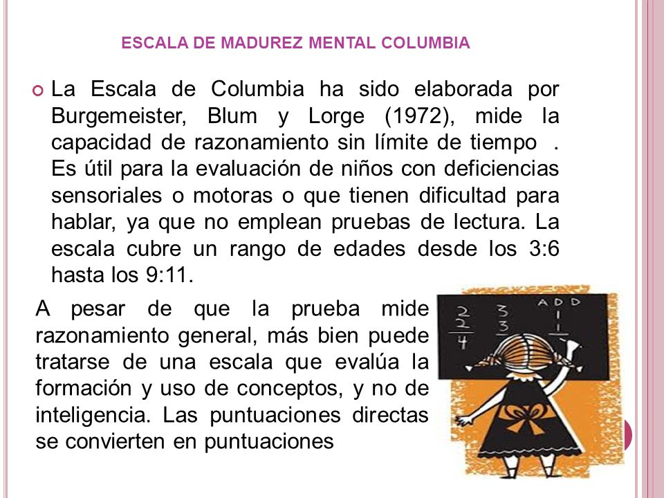 ESCALA DE MADUREZ MENTAL COLUMBIA
