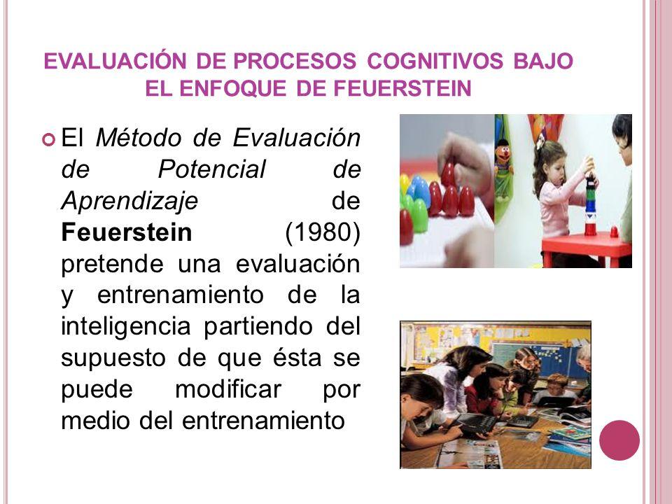 EVALUACIÓN DE PROCESOS COGNITIVOS BAJO EL ENFOQUE DE FEUERSTEIN