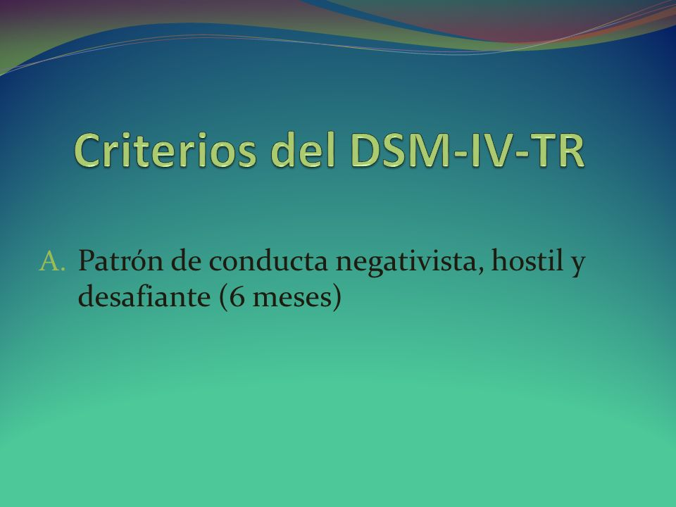 Criterios del DSM-IV-TR