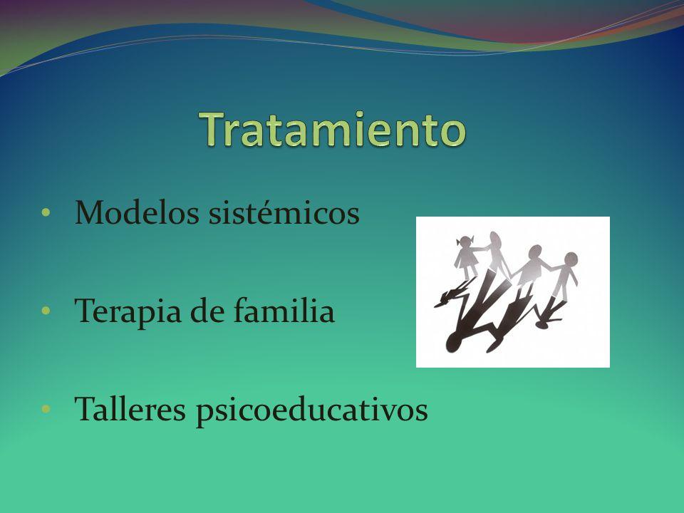 Modelos sistémicos Terapia de familia Talleres psicoeducativos