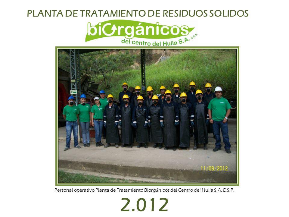 2.012 PLANTA DE TRATAMIENTO DE RESIDUOS SOLIDOS