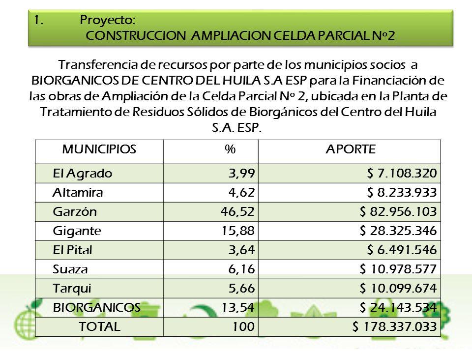 CONSTRUCCION AMPLIACION CELDA PARCIAL Nº2