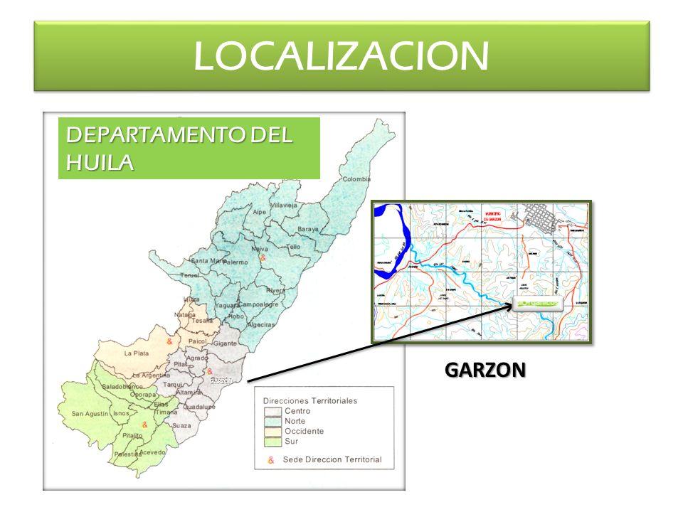LOCALIZACION DEPARTAMENTO DEL HUILA GARZON GARZON