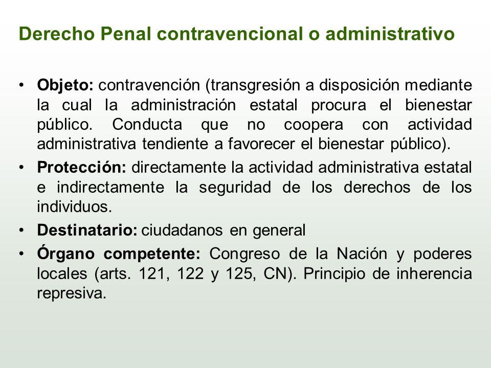Derecho Penal contravencional o administrativo