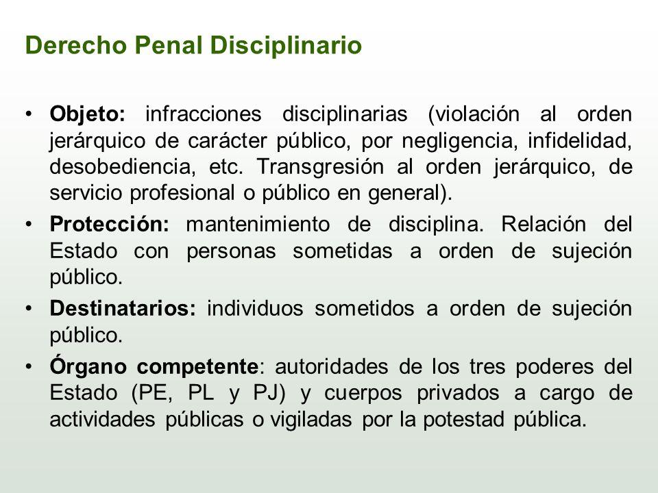 Derecho Penal Disciplinario