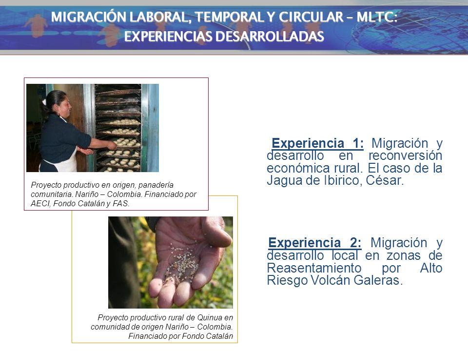 EXPERIENCIAS MLTC MIGRACIÓN LABORAL, TEMPORAL Y CIRCULAR – MLTC: