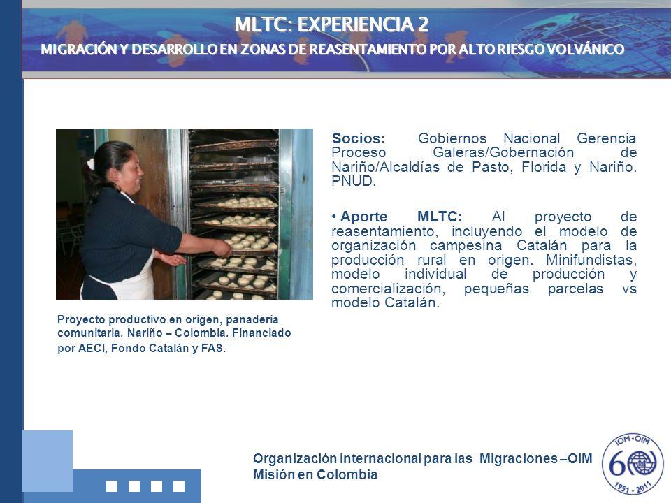MLTC: EXPERIENCIA 2 MIGRACIÓN Y DESARROLLO EN ZONAS DE REASENTAMIENTO POR ALTO RIESGO VOLVÁNICO.