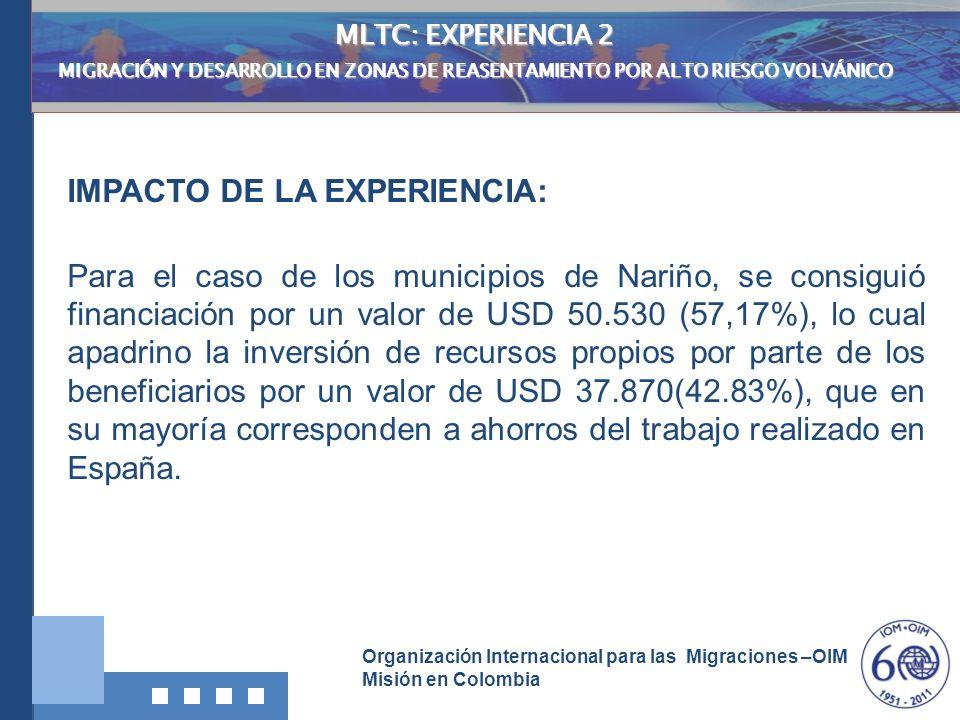 IMPACTO DE LA EXPERIENCIA: