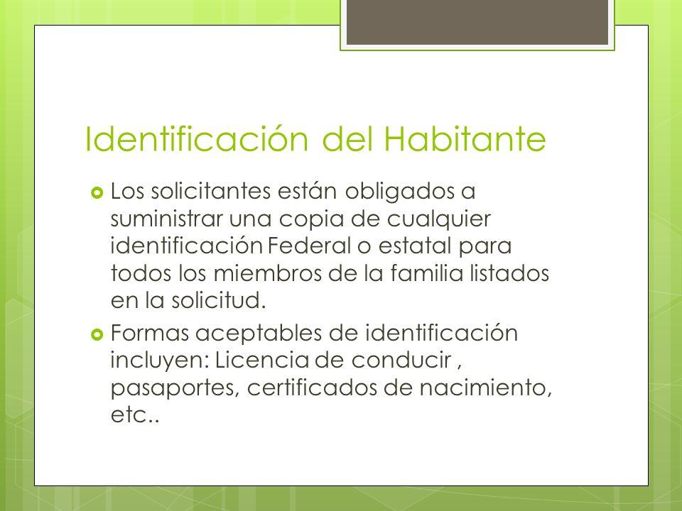 Identificación del Habitante