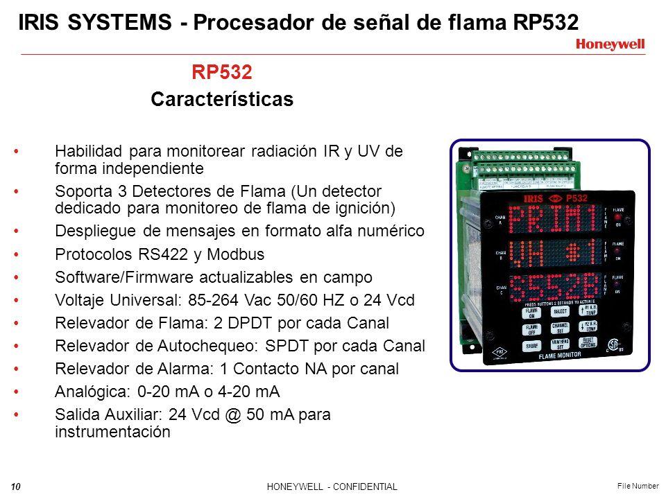 IRIS SYSTEMS - Procesador de señal de flama RP532