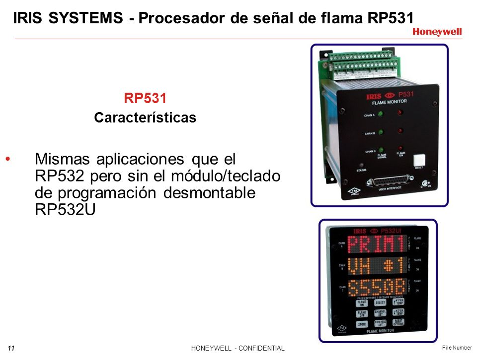 IRIS SYSTEMS - Procesador de señal de flama RP531