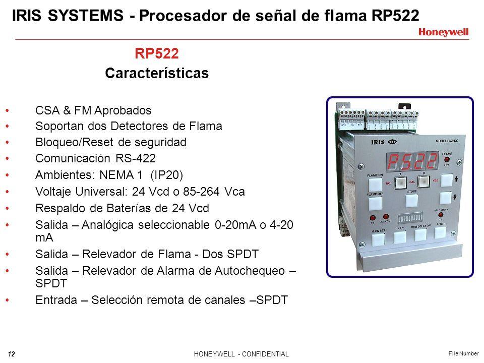 IRIS SYSTEMS - Procesador de señal de flama RP522