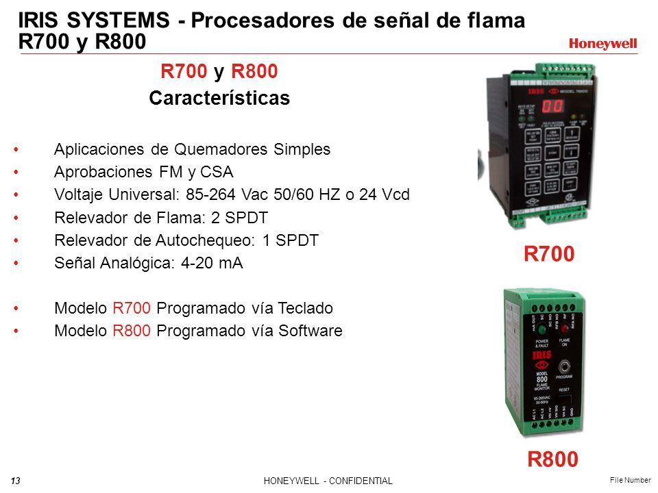 IRIS SYSTEMS - Procesadores de señal de flama R700 y R800