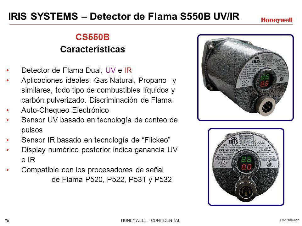 IRIS SYSTEMS – Detector de Flama S550B UV/IR
