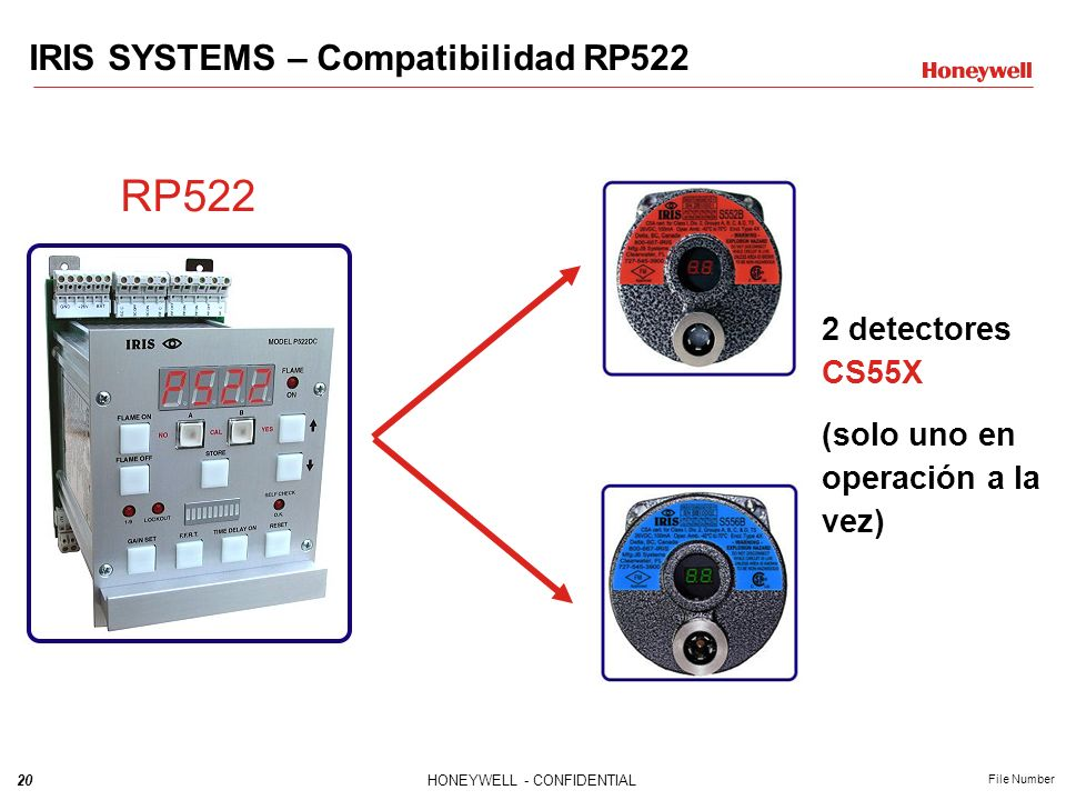 RP522 IRIS SYSTEMS – Compatibilidad RP522 2 detectores CS55X