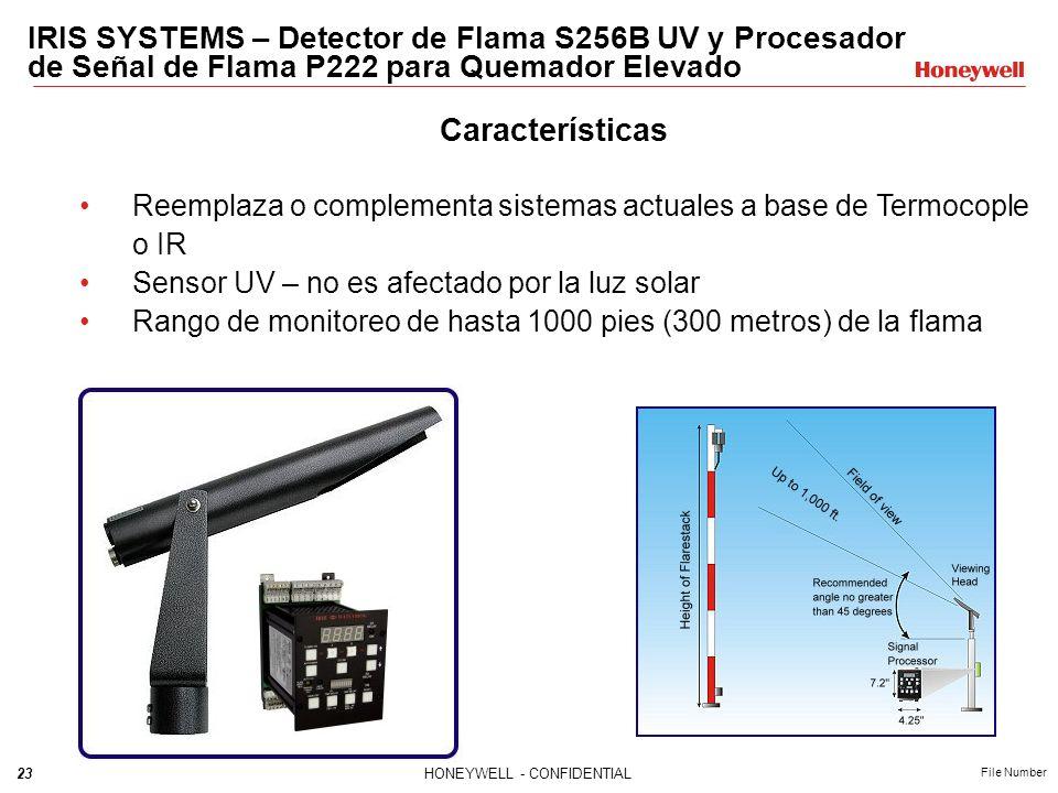 IRIS SYSTEMS – Detector de Flama S256B UV y Procesador de Señal de Flama P222 para Quemador Elevado