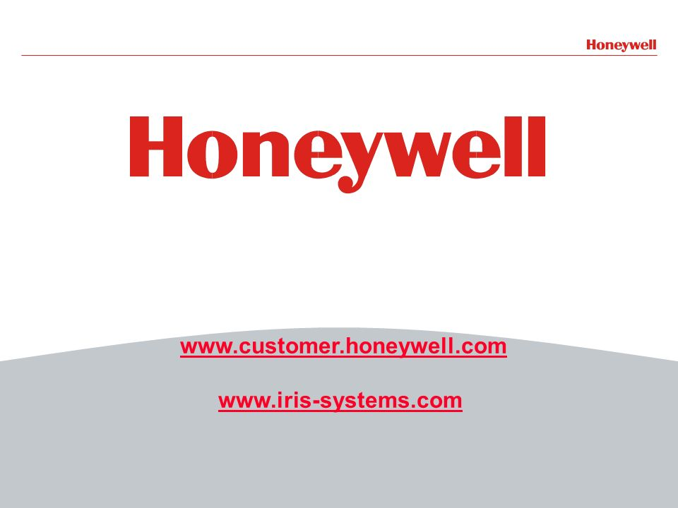www.customer.honeywell.com www.iris-systems.com