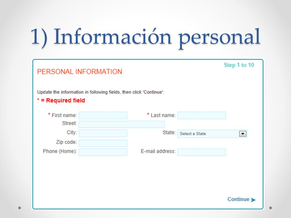 1) Información personal