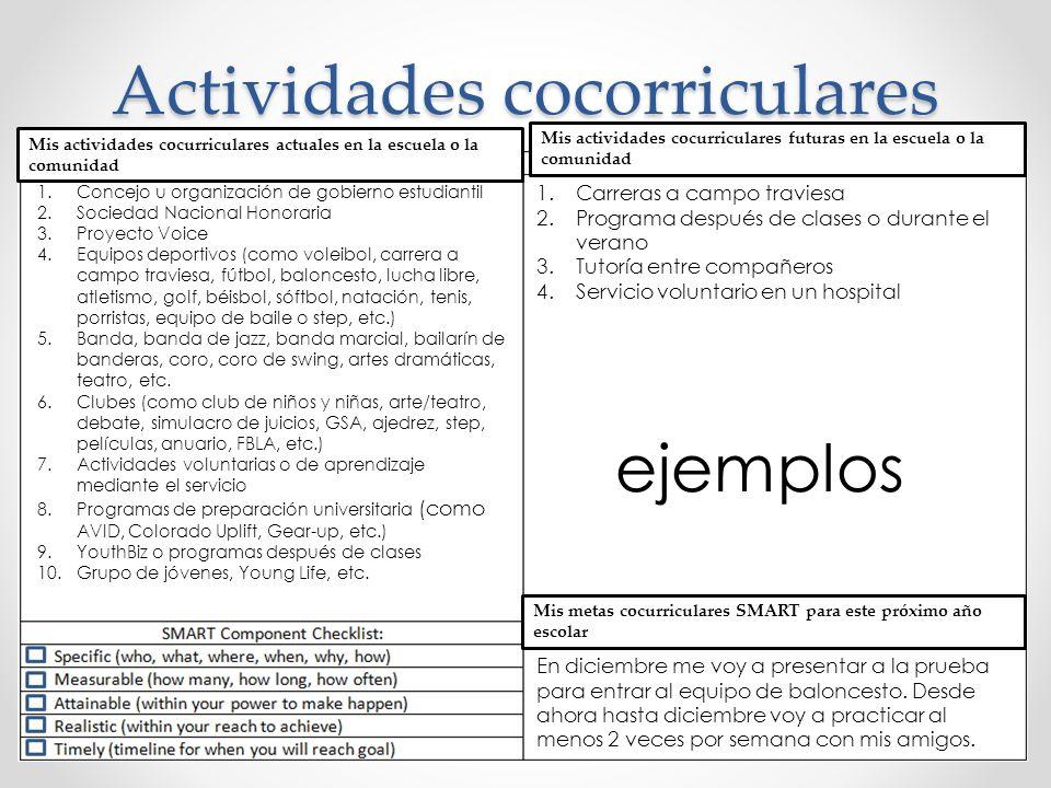 Actividades cocorriculares