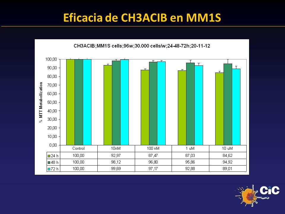 Eficacia de CH3ACIB en MM1S