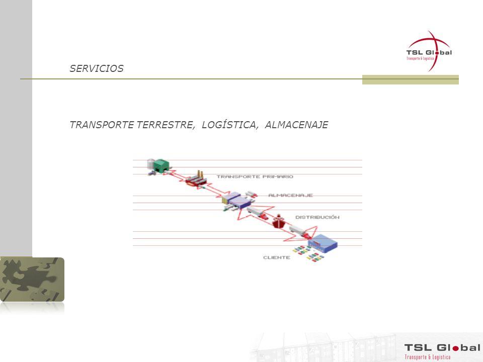 SERVICIOS TRANSPORTE TERRESTRE, LOGÍSTICA, ALMACENAJE