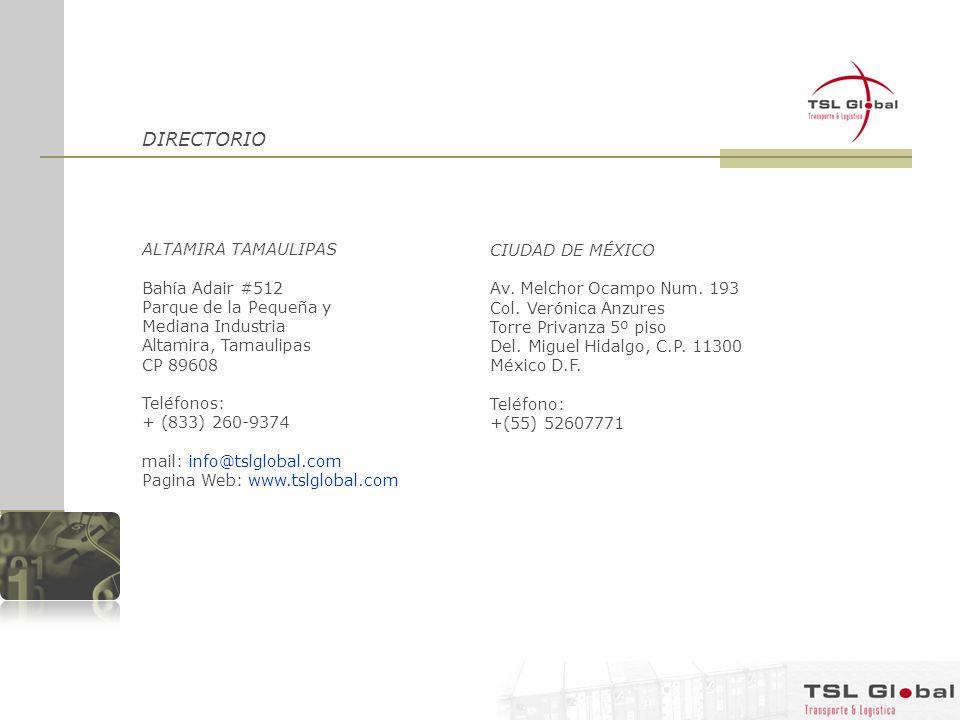 DIRECTORIO ALTAMIRA TAMAULIPAS Bahía Adair #512 Parque de la Pequeña y