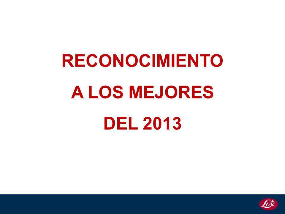 RECONOCIMIENTO A LOS MEJORES DEL 2013