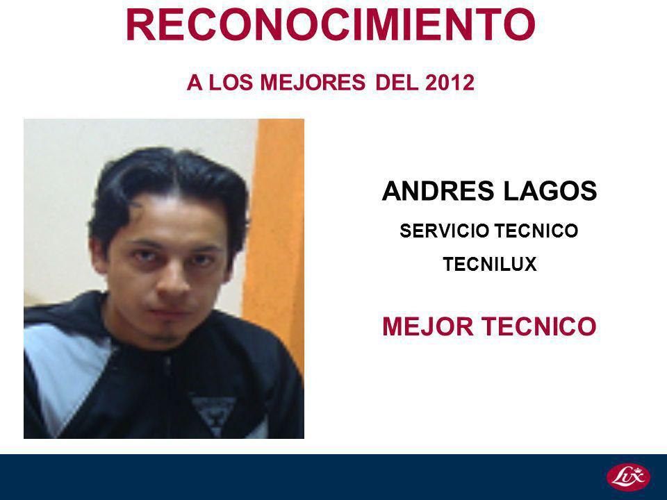 RECONOCIMIENTO ANDRES LAGOS MEJOR TECNICO A LOS MEJORES DEL 2012