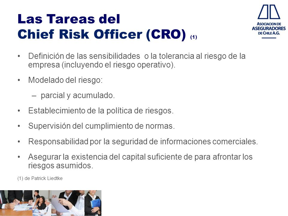Las Tareas del Chief Risk Officer (CRO) (1)