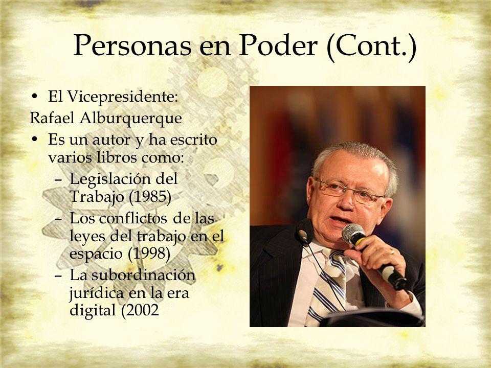 Personas en Poder (Cont.)