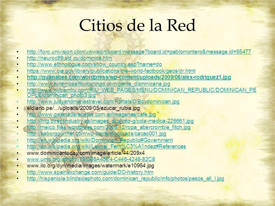 Citios de la Red http://foro.univision.com/univision/board/message board.id=pablomontero&message.id=55477.