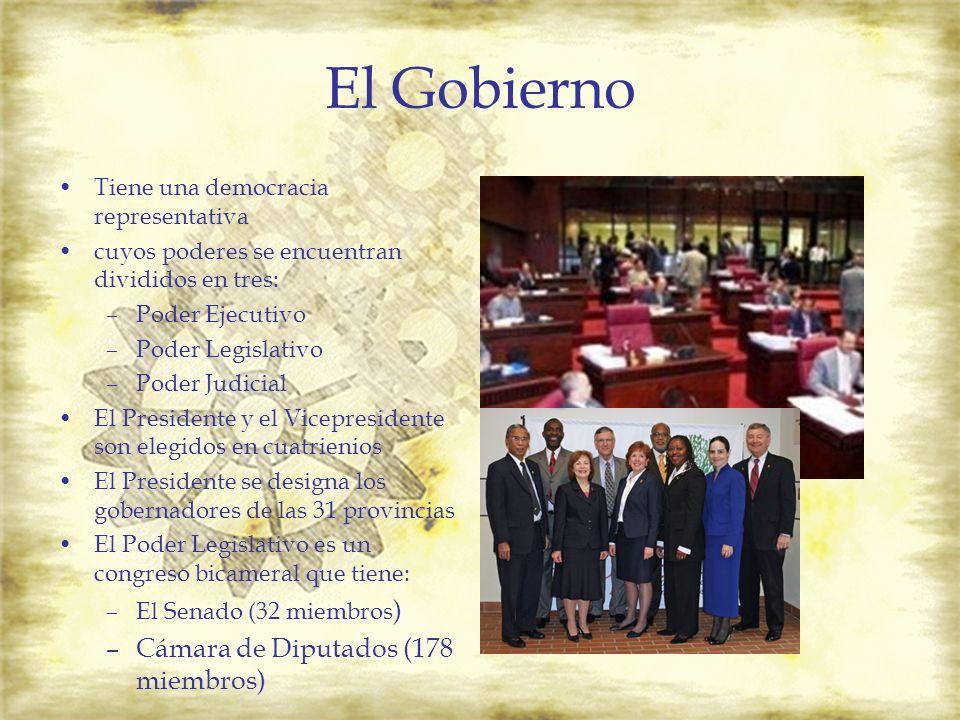 El Gobierno Cámara de Diputados (178 miembros)