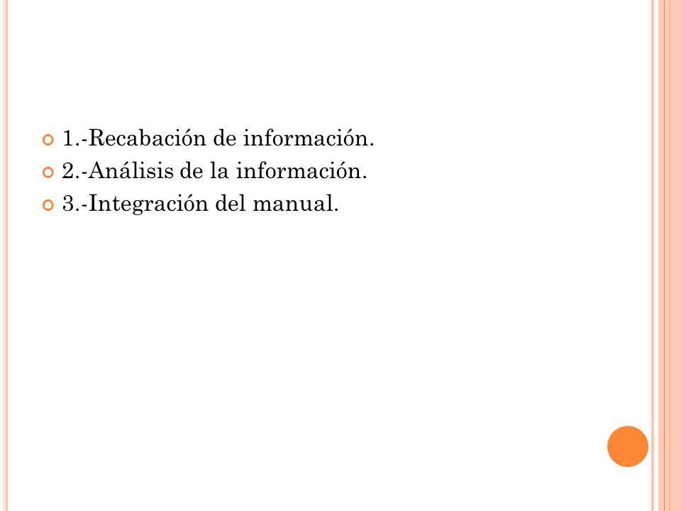 1.-Recabación de información.