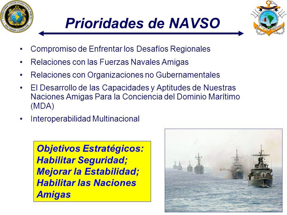 Prioridades de NAVSO Compromiso de Enfrentar los Desafíos Regionales. Relaciones con las Fuerzas Navales Amigas.