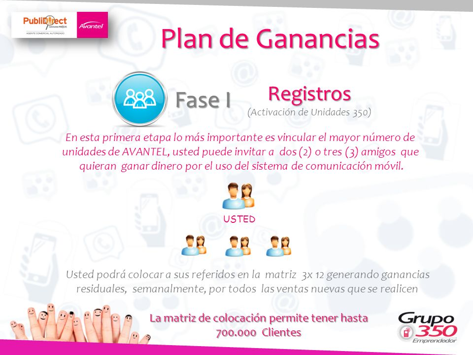 Plan de Ganancias Fase I Registros
