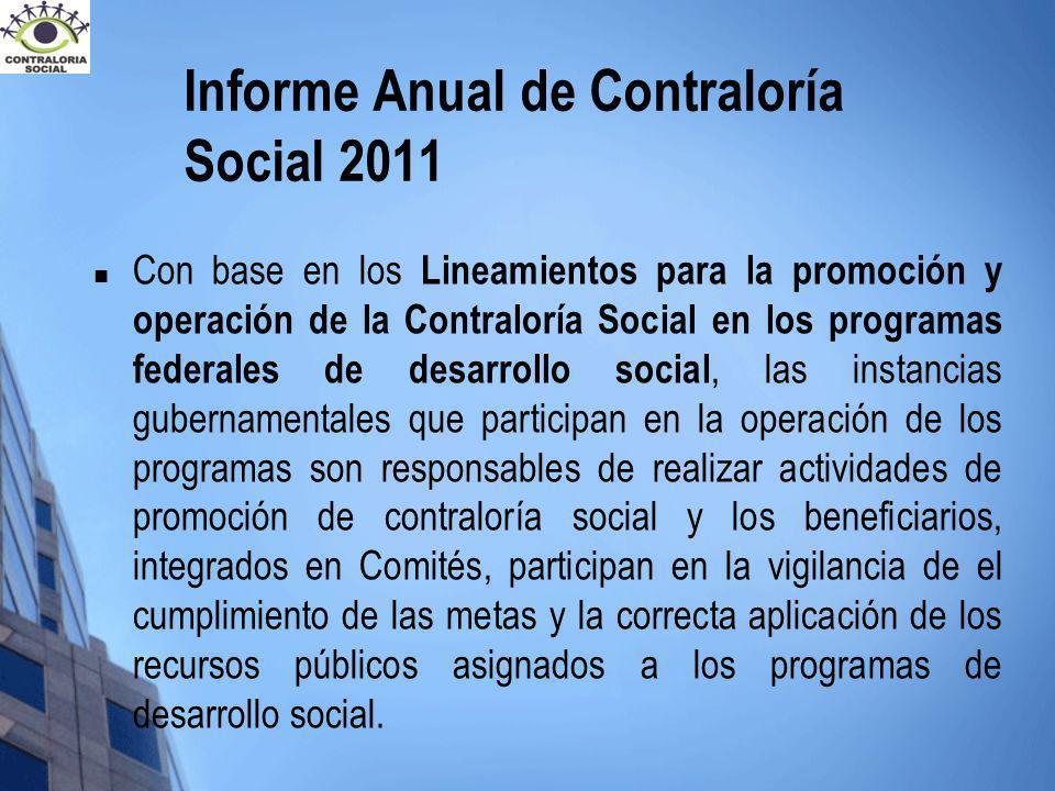 Informe Anual de Contraloría Social 2011