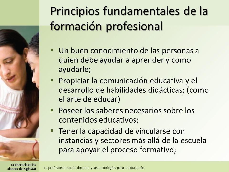 Principios fundamentales de la formación profesional