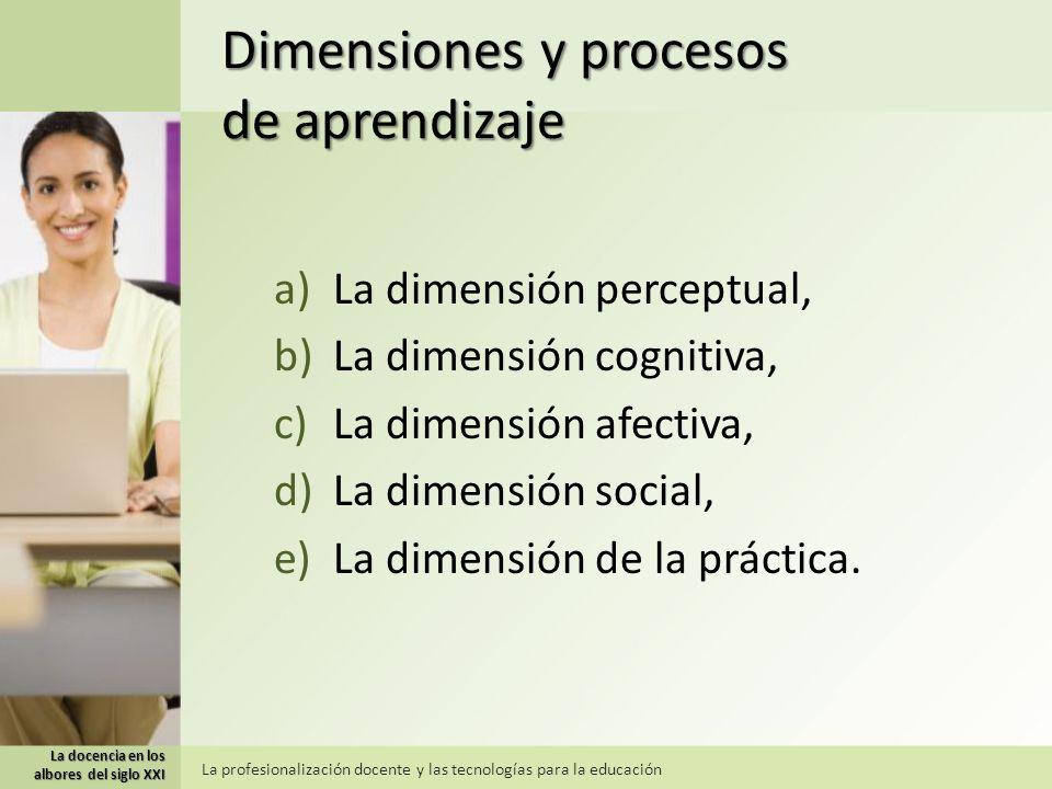Dimensiones y procesos de aprendizaje