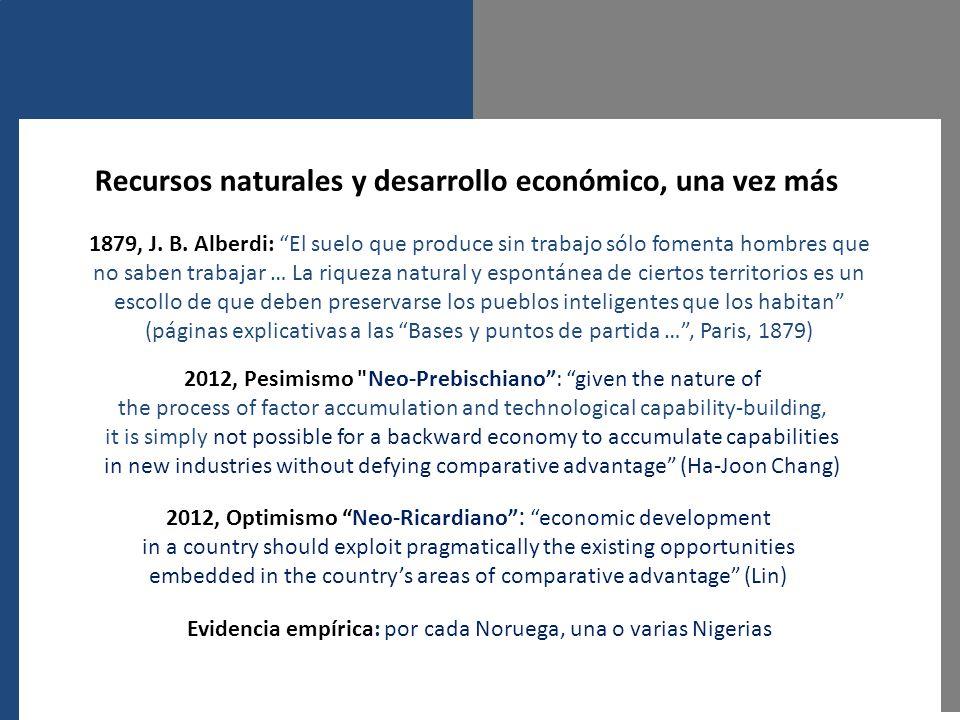 Recursos naturales y desarrollo económico, una vez más