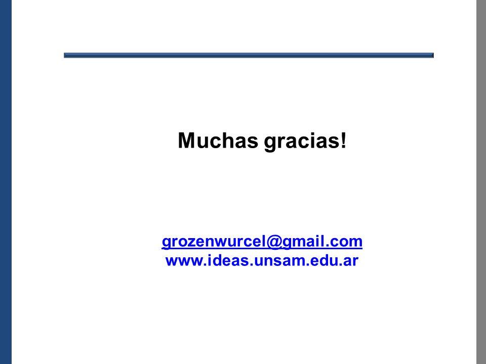 sas Muchas gracias! grozenwurcel@gmail.com www.ideas.unsam.edu.ar 47