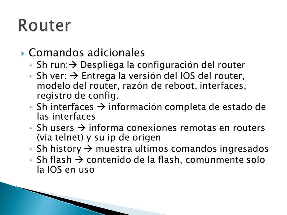 Router Comandos adicionales