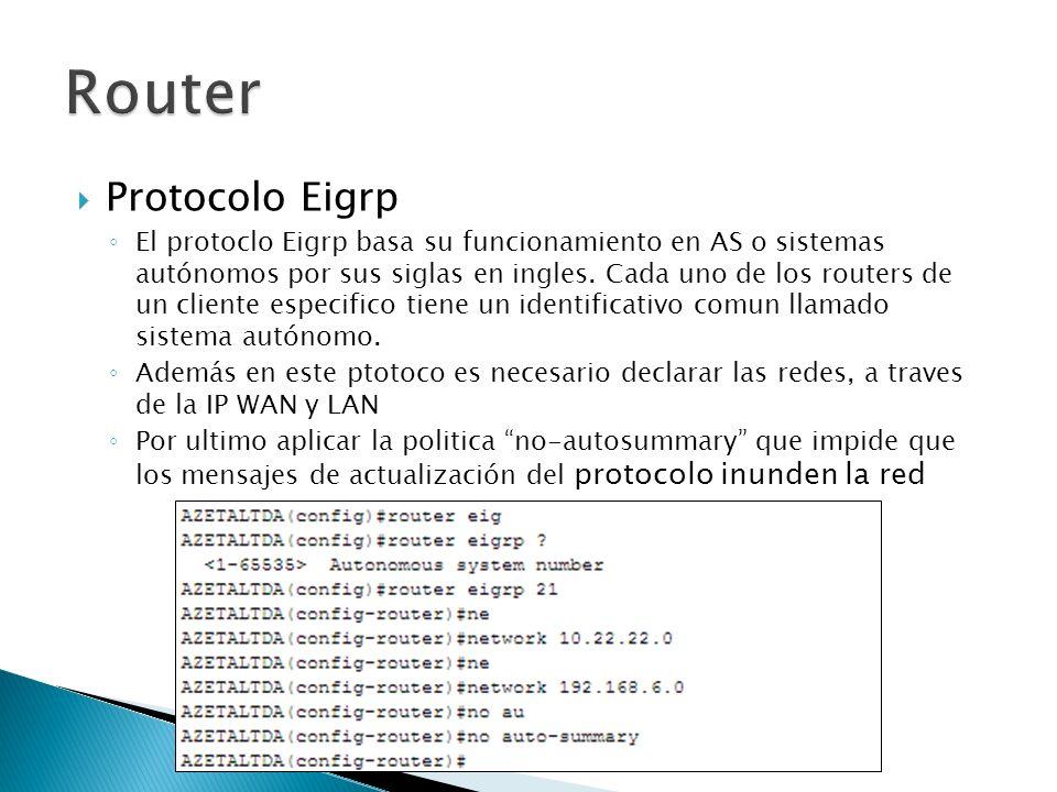 Router Protocolo Eigrp