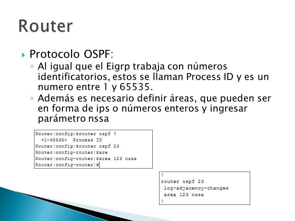 Router Protocolo OSPF:
