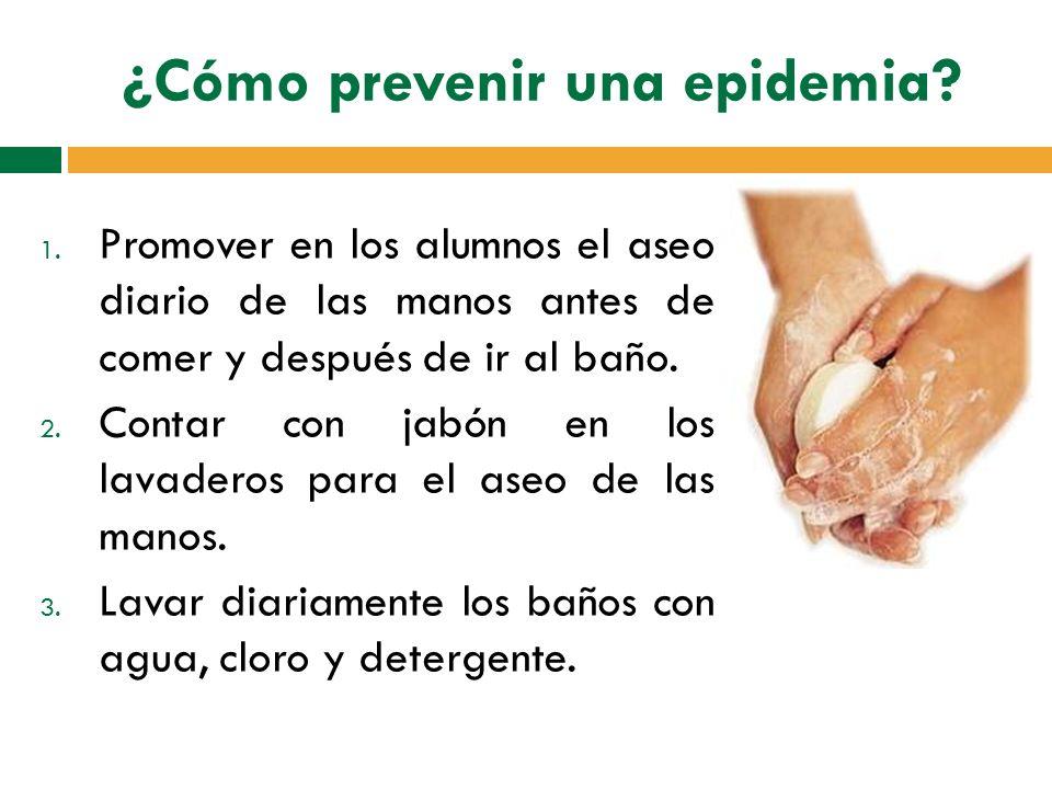 ¿Cómo prevenir una epidemia
