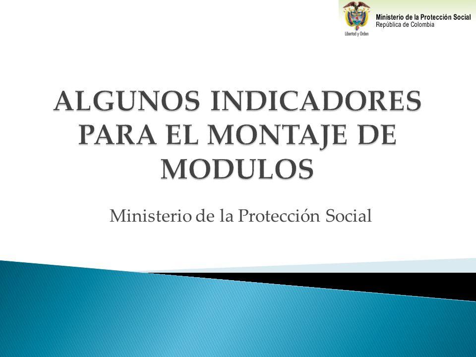 ALGUNOS INDICADORES PARA EL MONTAJE DE MODULOS
