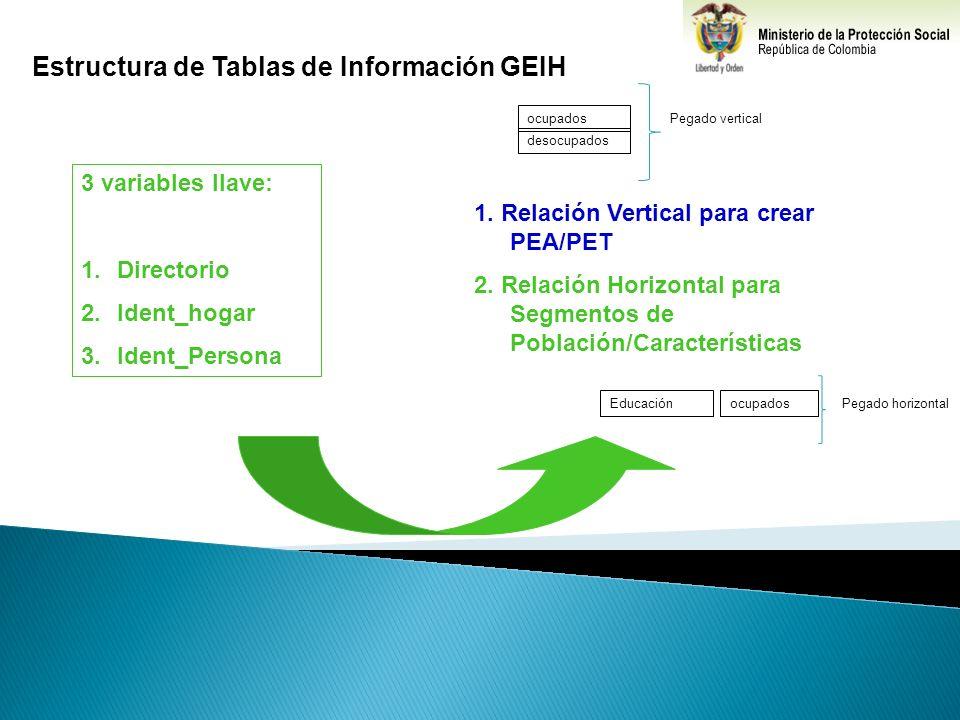 Estructura de Tablas de Información GEIH