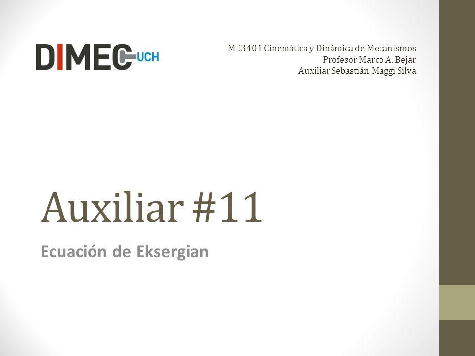 Auxiliar #11 Ecuación de Eksergian